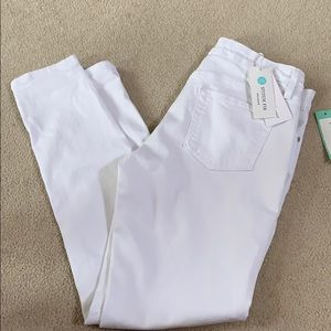Just Black skinny white denim jeans